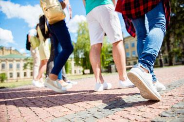 Villes à visiter : marcher au maximum